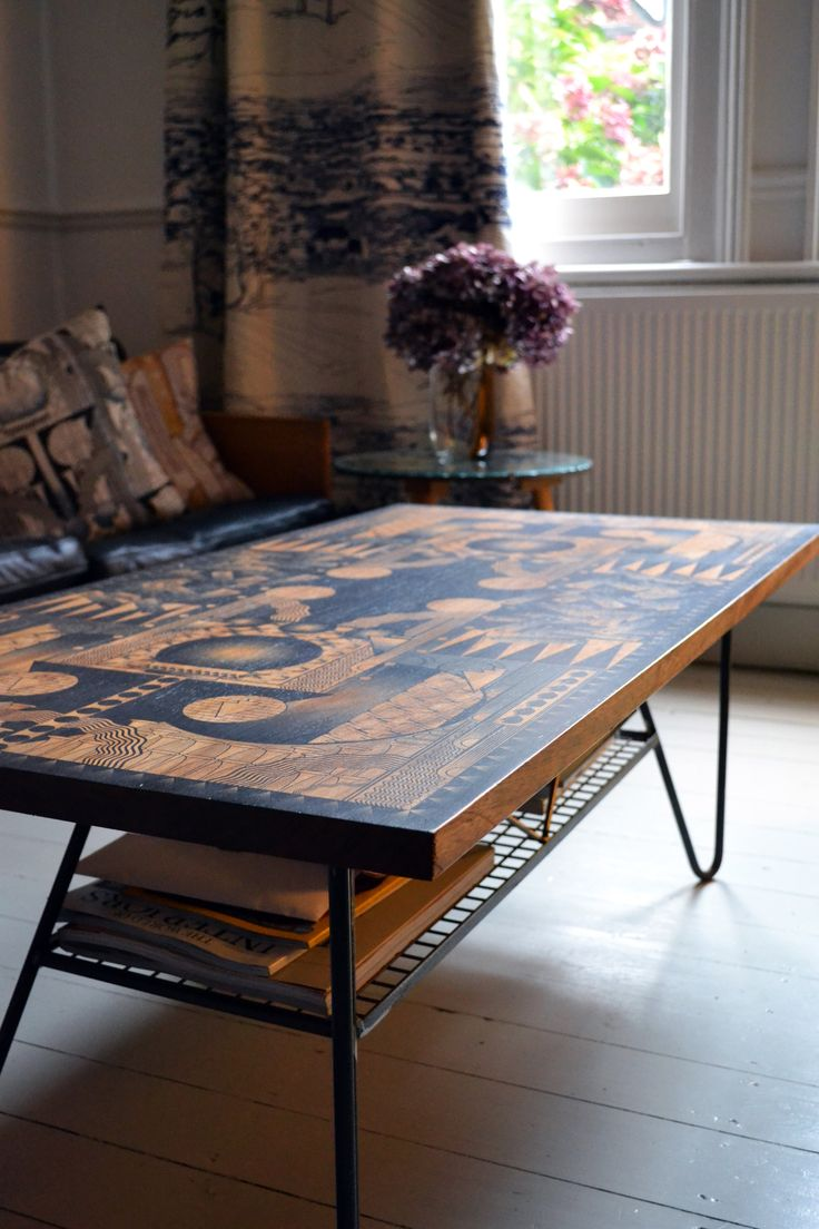 10 best daniel heath printed tables images on pinterest coffee astoria printed coffee table salvaged iroko top with geometric patterning danheathstudio geotapseo Choice Image