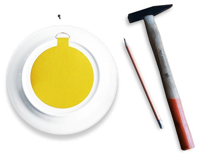Bord ophangen. Hoe hang ik mijn bord op? Onze bordenhangers zijn de ideale oplossing voor het ophangen van borden. Hangers en plakkers in diverse maten.