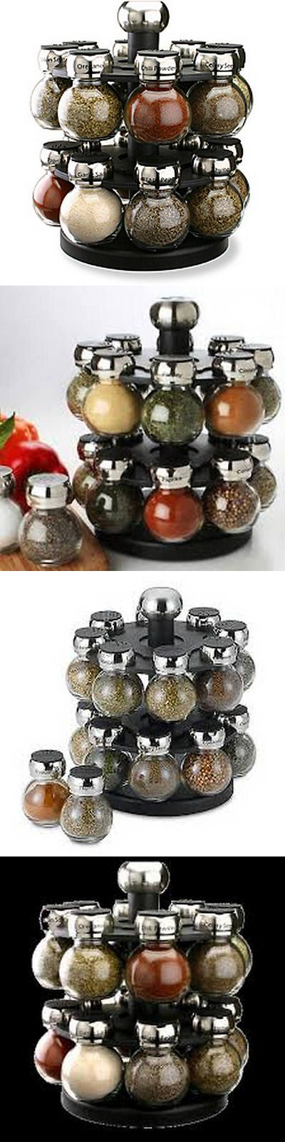 Spice Jars and Racks 20646: Spice Rack And Jars Glass Spices Set Herbs Carousel Kitchen 16 Jars Revolving -> BUY IT NOW ONLY: $49.99 on eBay!