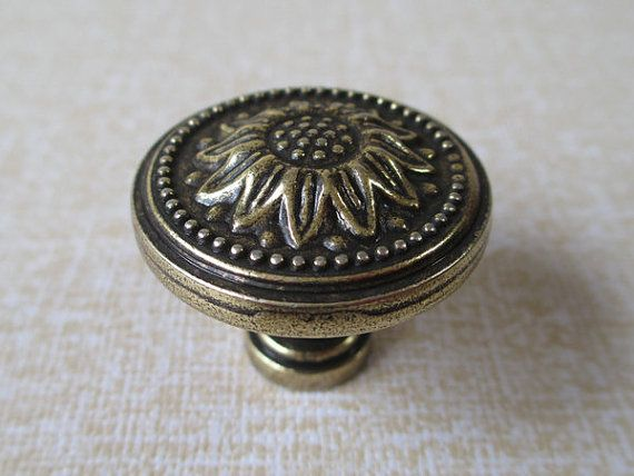 dresser knobs drawer knobs pulls handle sunflower antique brass rustic kitchen cabinet handles knob pull french country hardware 166
