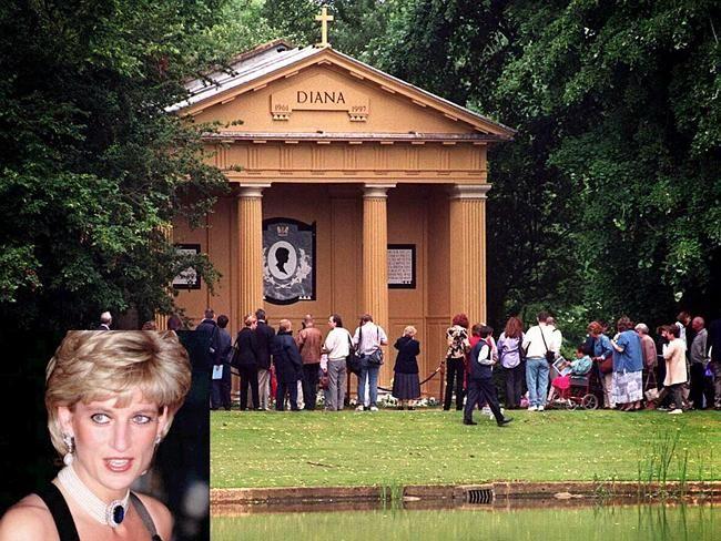 Princess Diana Grave Princess Diana Is Buried On An Island Within