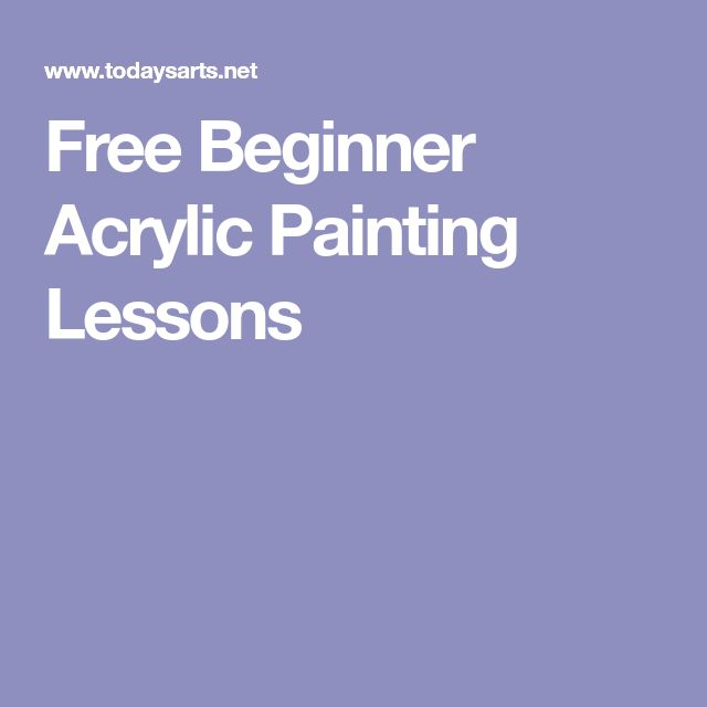 Free Beginner Acrylic Painting Lessons
