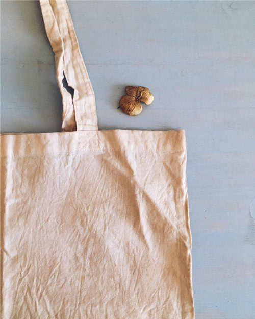 reusable organic cotton tote bag dyed with nettles