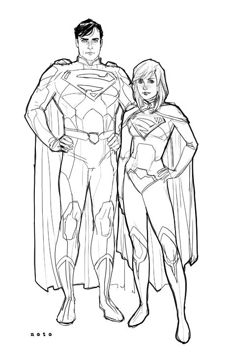 Kal and Kara from Phil Noto. He really is one of my favorite artists.