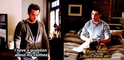 """""""I have a question about my clothes"""" - Nick & Schmidt #NewGirl"""