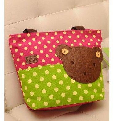 Momoailey Shoulder Bag - Pink Green