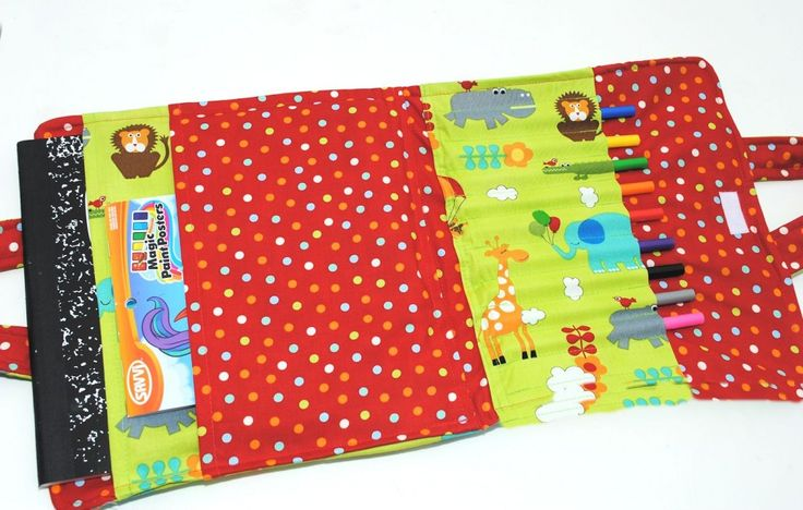 Kids' Coloring Book and Crayon Carrier Tutorial by Crazy little Projects: Kids Crayons, Carrier Tutorials, Books Holders, For Kids, Books Carrier, Book Holders, Colors Books, Colour Books, Coloring Books