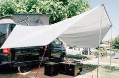 Sonnenschutz lässt sich am mittels Keder am vorhandenen Schienensystem einziehen