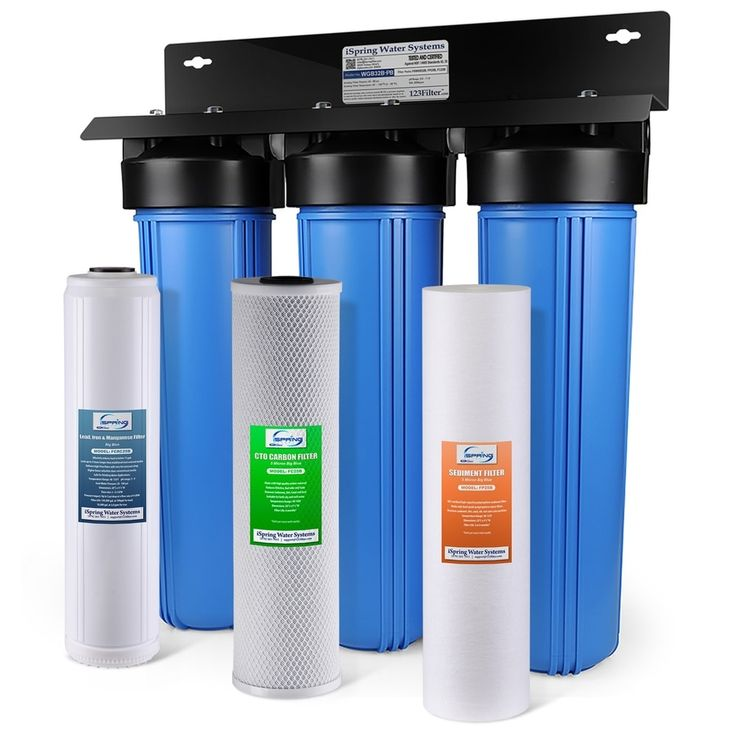 Ispring 3 Stage Whole House Lead Reducing Water Filtration System Wgb32b Pb The Home Depot Whole House Water Filter House Water Filter Water Filtration System