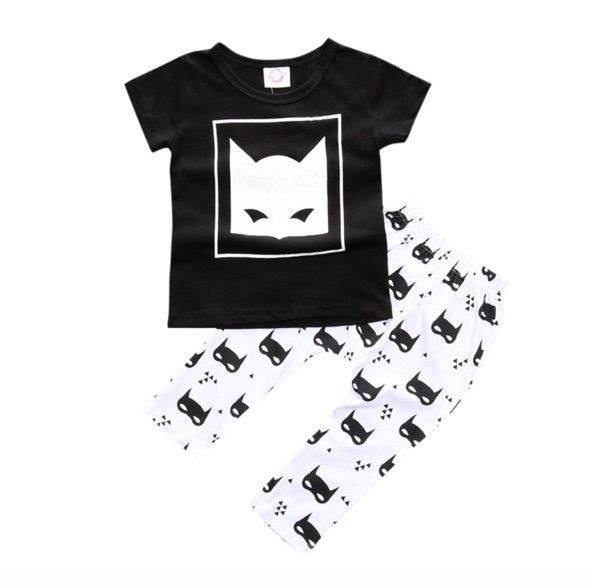It's amazing, its awesome , Its SUPER DOOPER!!! This 2 piece-set includes black Bat Boy T-shirt and matching Bat pants! Be a super hero and don't miss out!!