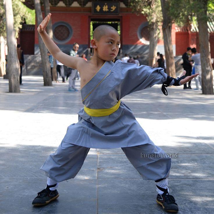 48.00$  Buy here - Gray Cotton One Sleeve Shaolin Monk Suit Tai Chi Kung fu Wing Chun Martial arts Uniform Taekwondo Karate Set   #buyininternet
