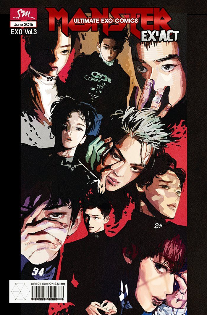 EXO Monster Fanart EXACT That is so cool... Props to the artist.