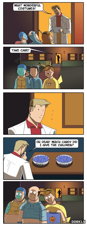 Pokemon Halloween comic strip