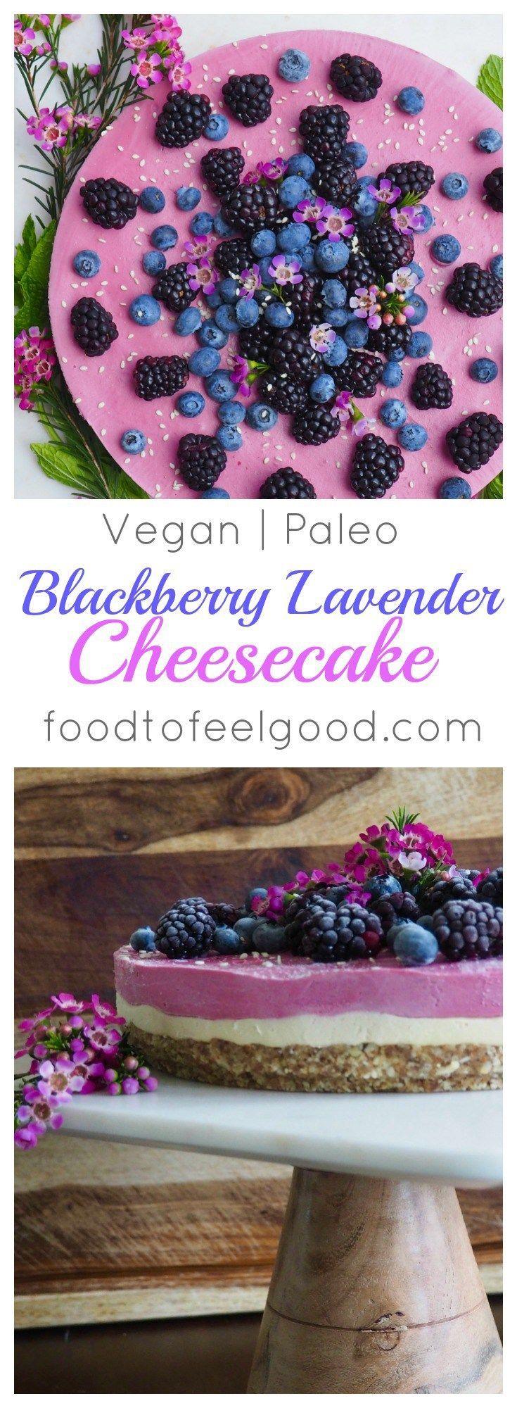 Raw Vegan Paleo Blackberry Lavender Cheescake recipe