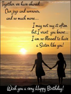 happy birthday wish sisters quotes - Google Search
