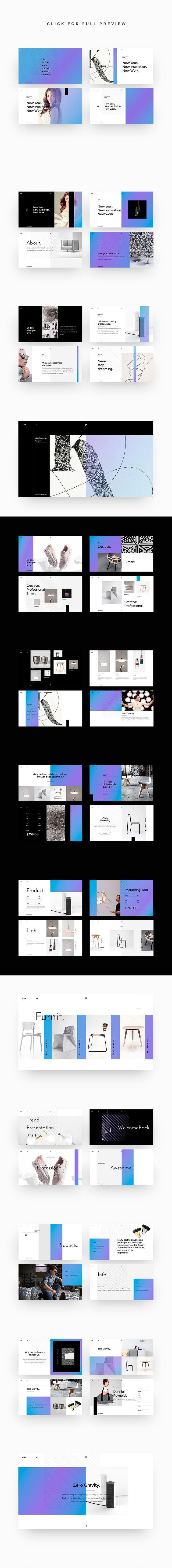 AIDA Powerpoint Template + Bonus #presentation #ppt #pptx #powerpoint #template