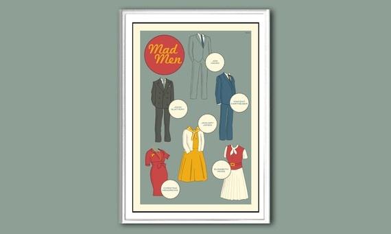 Poster Mad Men 12x18 inches print in original by claudiavarosio, $19.00