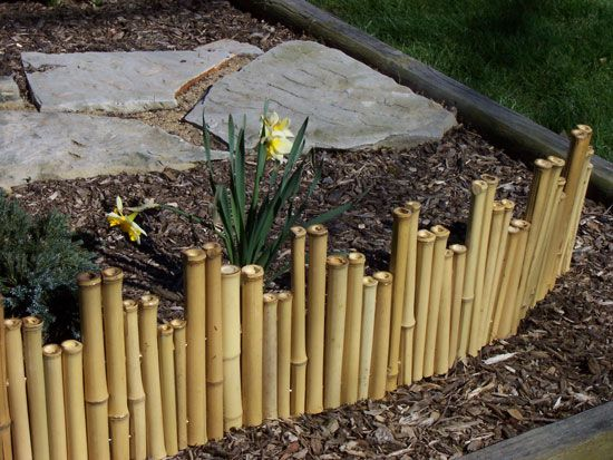 Bamboo Garden Fence. I can use the stalks of sabal palm leaves since I don't have bamboo growing on my property.