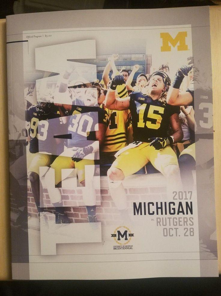 2017 Michigan Wolverines vs Rutgers Scarlet Knights Football Program | eBay