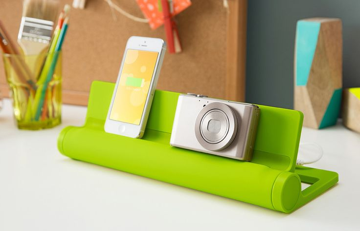 Gorgeous charging stations in amazing colors.