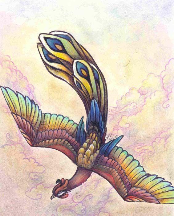 fènghuáng bird- Ave Fenix- Phoenix Bird