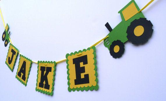 John Deere Green tractor Name Banner Farm green by EMTsweeetie, $12.00