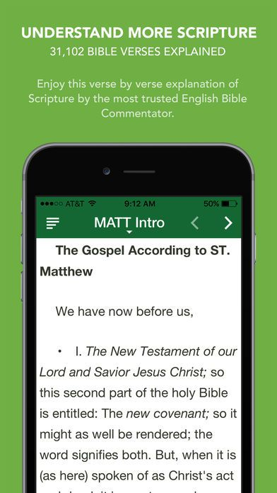 [iOS] Matthew Henry Commentary with Audio - 31,102 Bible verses explained ($3.99 to Free)
