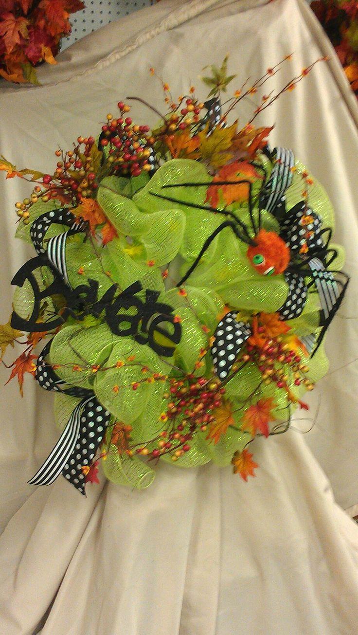 deco mesh wreath - Deco Mesh Halloween Garland