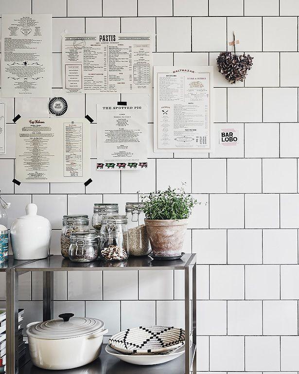 Cozy Home With A Brick Wall Bistro Kitchen Kitchen Decor