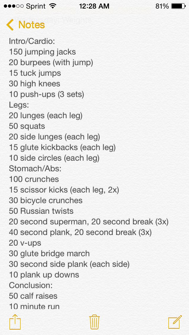 easy at home workout by JT