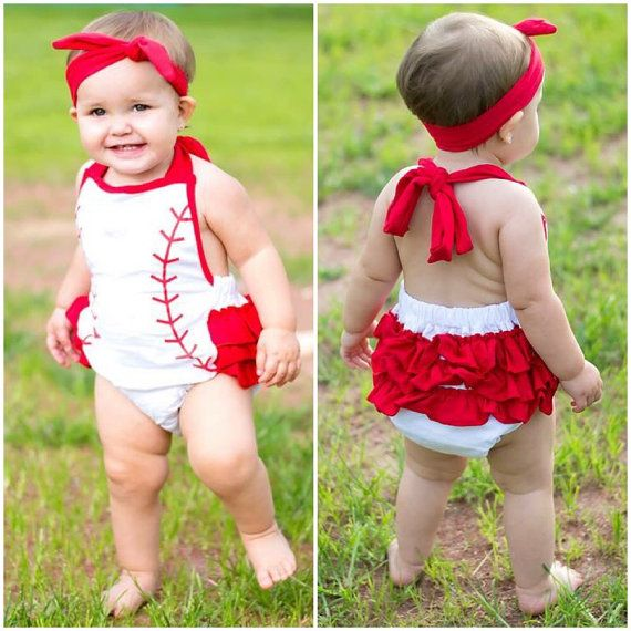 Hey, I found this really awesome Etsy listing at https://www.etsy.com/listing/241710724/baseball-romper-baby-girls-baseball