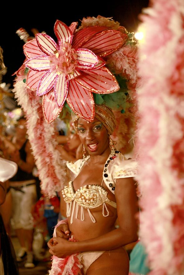 This is Carnavale TODAY. Quite different from the exquisite costumes of the 50's, BEFORE Castro's revolution. ---- Pinner wrote: Carnavales de Santiago de Cuba.