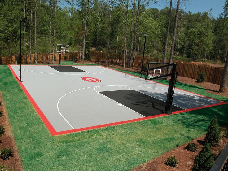 basketball court backyards forward full backyard basketball court