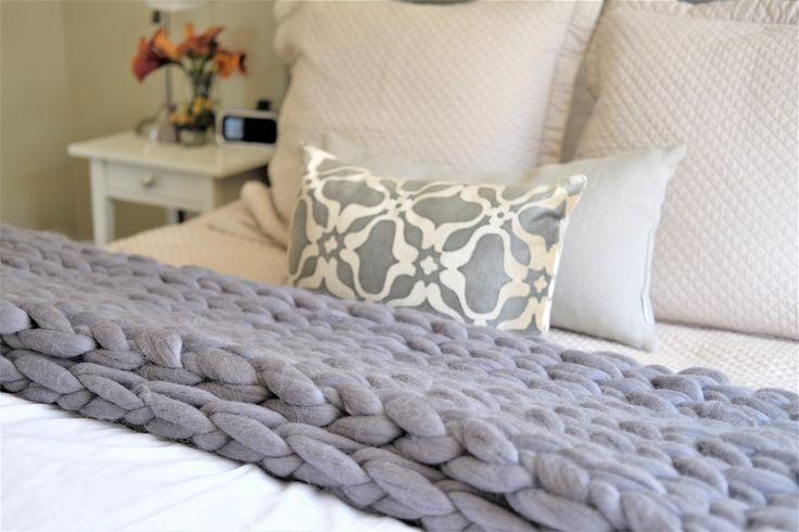 DIY Knitting Kit, Queen size Blanket 55x70 in