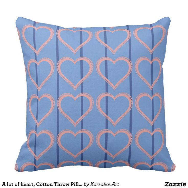 A lot of heart, Cotton Throw Pillow 20x20  #home #interior #valentines #love #decor #heart #design