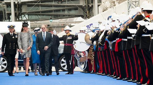 Princess Cruises- Royal Princess naming ceremony-  The Band of Her Majesty's Royal Marines Portsmouth