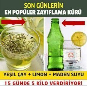 Yeşil Çay Limon Soda İle Zayıflama Kürü