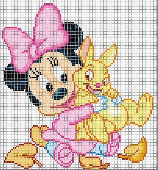 Schema punto croce Minnie5
