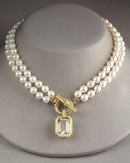 This would be so fabulous in peacock black pearls with an amethyst drop surrounded by a border of pave tsavorites.