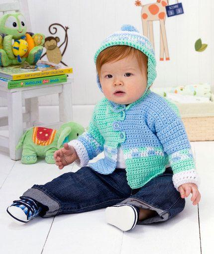 Checkers Sweater Set Free crochet pattern: