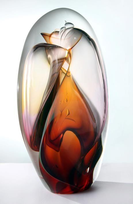 "ronbeckdesigns: art glass | ""transparent vortex pod""~Phil Vickery Glass"