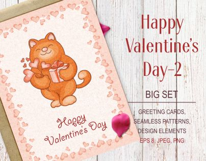 "Check out new work on my @Behance portfolio: ""Happy Valentine's day-2. Big set."" http://be.net/gallery/46858569/Happy-Valentines-day-2-Big-set"
