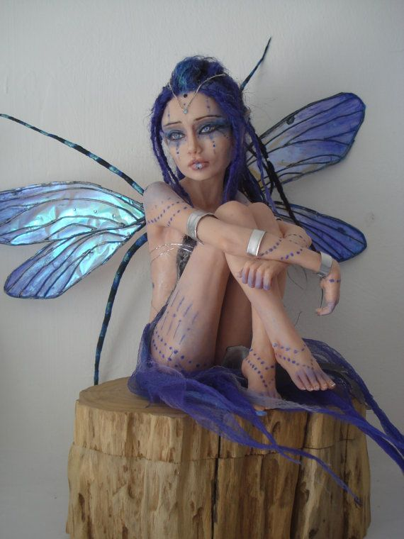 SHADOWSCULPT OOAK grande Commissione fata personalizzato fatto uno di una figurina fantasia bambola gentile scultura realistica arte su ordinazione
