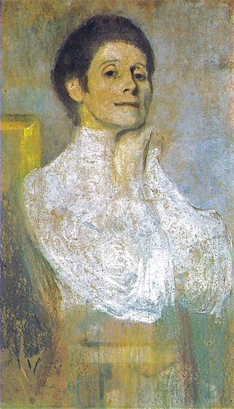 "Olga Boznanska (1865-1945).  This ""autoportret"" by the Polish Impressionist painter was done in 1906."