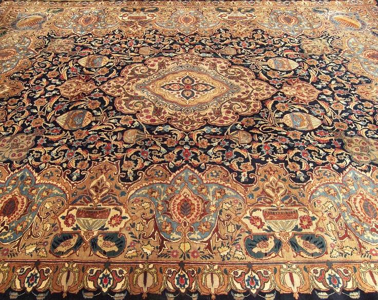 Persian Archaeological Kashmar Wool Rug Indoors