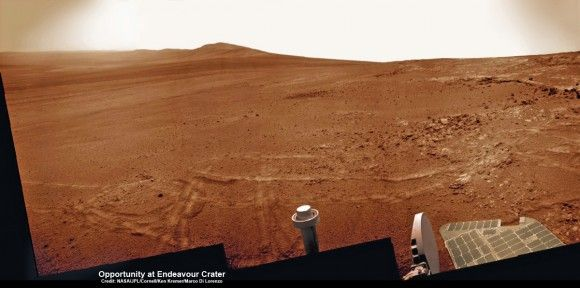 Opportunity Discovers Clays Favorable to Martian Biology and Sets Sail for Motherlode of New Clues