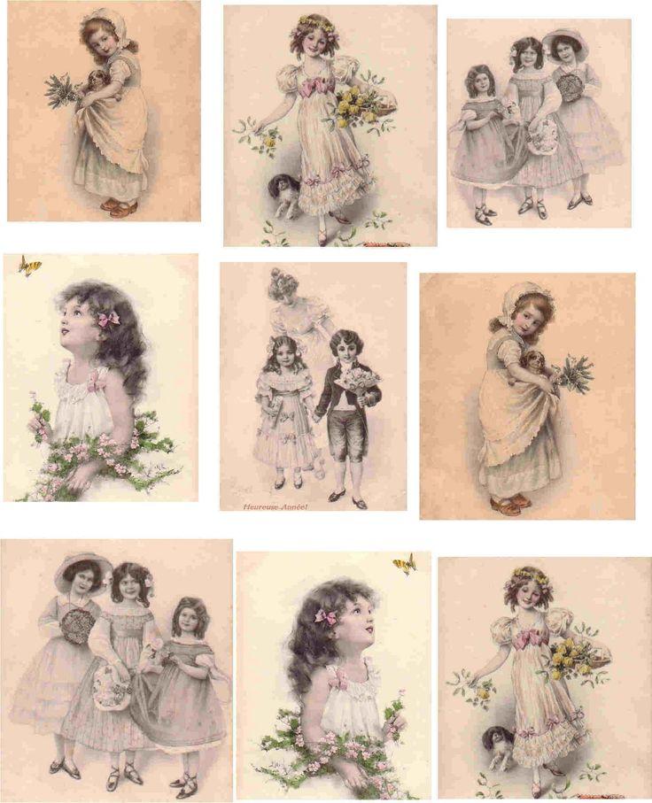 Картинки для декупажа распечатки винтаж