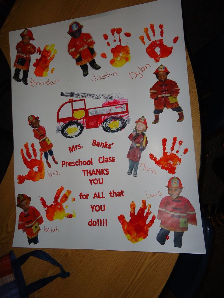 Thank you poster for the fire department, made by Robin Thomason, Ashley Banks, Marla Mckissack