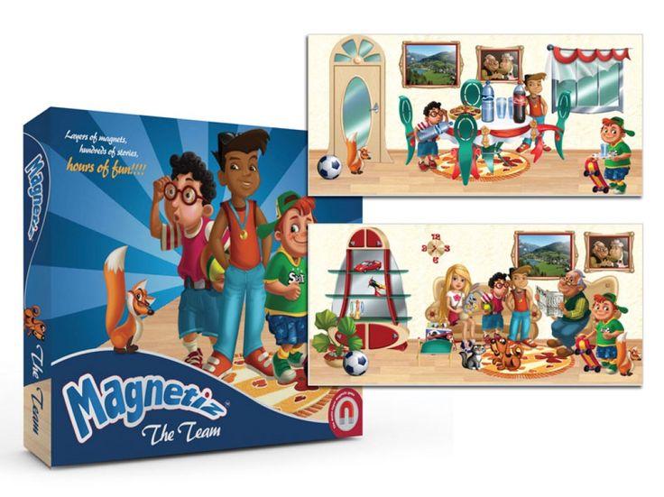 Juego de mesa magnético The Team, de doble cara, con dos escenarios PVP: 20,90 € http://www.babycaprichos.com/juego-de-mesa-magnetico-the-team.html