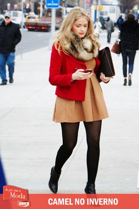 Chamada assim pelo tom que lembra a pele dos camelos, a cor camel é tendência na temporada. Confira em http://enycalcados.blogspot.com.br/